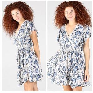 Floral V-Neck Smocked Summer Dress